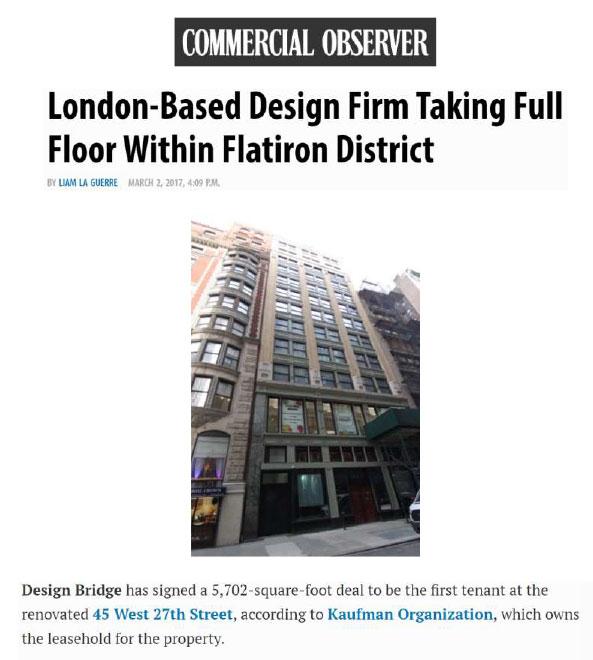 London Based Design Firm Taking Full Floor