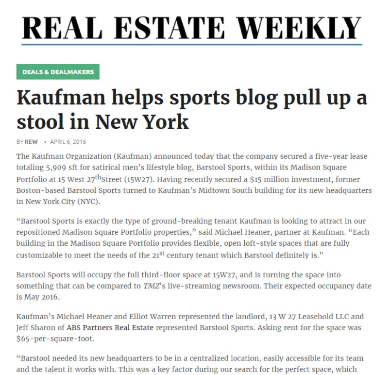 Barstool Article