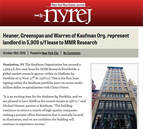 NYREJ preview of Heaner, Greenspan, Warren success